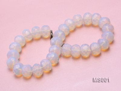 14x20mm Flat Opalescent Moonstone Beads Necklace MS001 Image 4