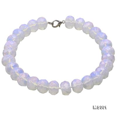 14x20mm Flat Opalescent Moonstone Beads Necklace MS001 Image 1