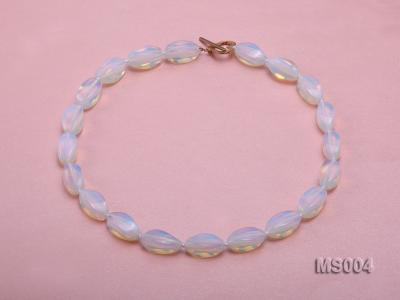 10x19mm Oval Opalescent Moonstone Beads Necklace MS004 Image 1