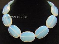 25x35mm Oval Opalescent Moonstone Beads Necklace MS008