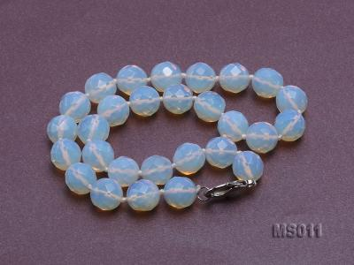 13mm Round Opalescent Faceted Moonstone Beads Necklace MS011 Image 2