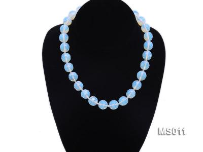 13mm Round Opalescent Faceted Moonstone Beads Necklace MS011 Image 5
