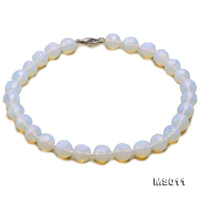 13mm Round Opalescent Faceted Moonstone Beads Necklace MS011 Image 1