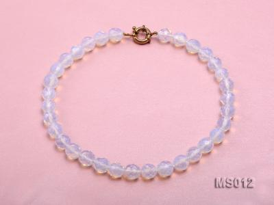 10mm Round Opalescent Faceted Moonstone Beads Necklace MS012 Image 1