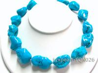 24-35mm blue irregular Turquoise Necklace TQN026