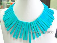 7x20-7x70mm blue Rectangular Turquoise Necklace TQN030