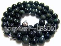 8mm black  round obsidian necklace  OBS001