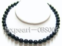 10mm black round obsidian necklace  OBS002