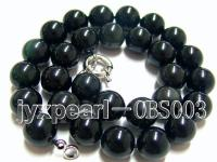16mm black round obsidian necklace  OBS003