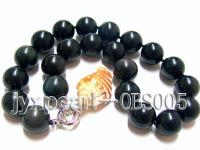 20mm black round obsidian necklace  OBS005