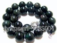 18mm black round obsidian necklace  OBS004