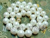 Classic 12-13mm AAA White Round Cultured Freshwater Pearl Necklace RPN026