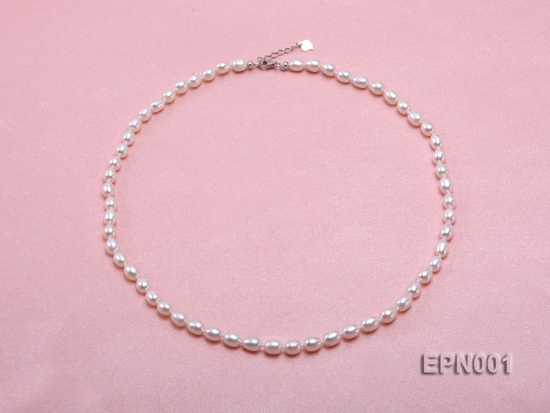 5-6mm Classic White Elliptical Pearl Necklace big Image 1