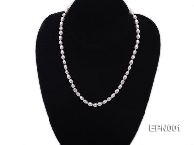 5-6mm Classic White Elliptical Pearl Necklace EPN001 Image 2