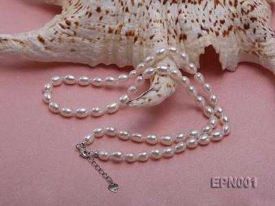 5-6mm Classic White Elliptical Pearl Necklace EPN001 Image 3