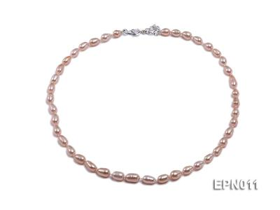 7-8mm Elliptical Pink Freshwater Pearl Necklace  EPN011 Image 1