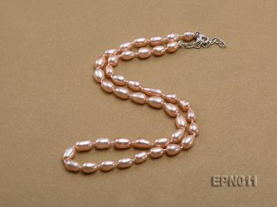 7-8mm Elliptical Pink Freshwater Pearl Necklace  EPN011 Image 2