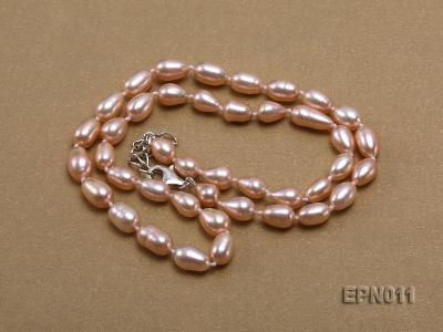 7-8mm Elliptical Pink Freshwater Pearl Necklace  EPN011 Image 3