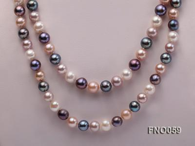 8-9mm multicolor round freshwater pearl necklace FNO059 Image 2