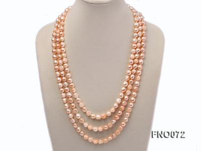 10-11mm natural pink baroque freshwater pearl necklace FNO072 Image 1