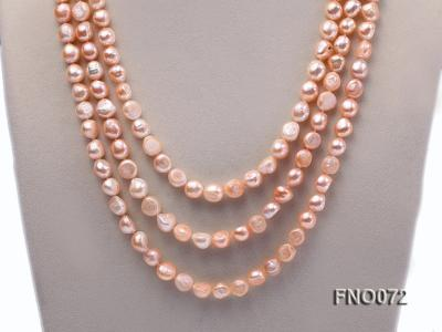 10-11mm natural pink baroque freshwater pearl necklace FNO072 Image 2