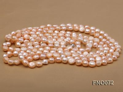 10-11mm natural pink baroque freshwater pearl necklace FNO072 Image 3