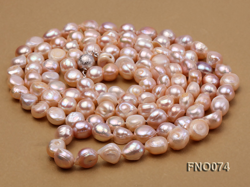 10-11mm natural lavender baroque freshwater pearl necklace big Image 3