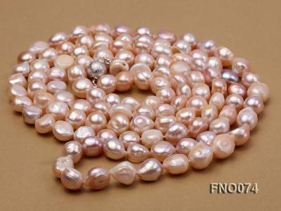 10-11mm natural lavender baroque freshwater pearl necklace FNO074 Image 3