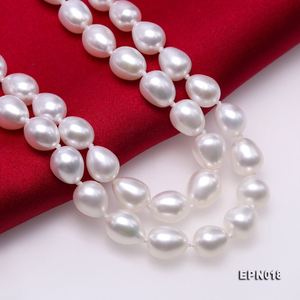 7.5-8.5mm Elliptical White Freshwater Pearl Necklace  big Image 7