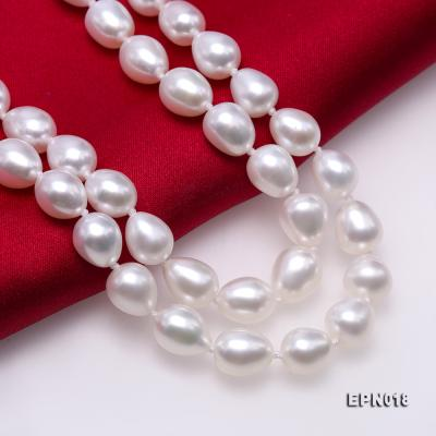 7.5-8.5mm Elliptical White Freshwater Pearl Necklace  EPN018 Image 7