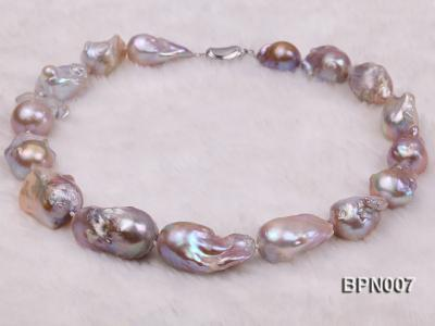 Classic 15x30-18.5x35mm Lavender Baroque Freshwater Pearl Necklace BPN007 Image 4