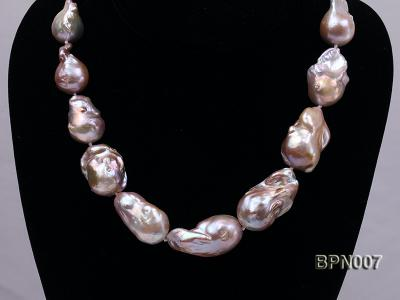 Classic 15x30-18.5x35mm Lavender Baroque Freshwater Pearl Necklace BPN007 Image 6