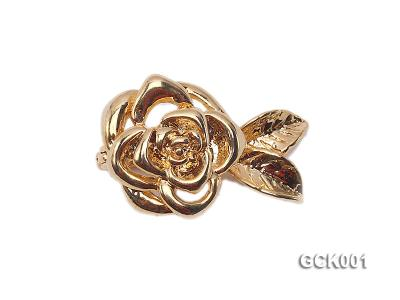 15x25mm Single-strand Flower-shaped Gilded Magnetic Clasp GCK001 Image 1