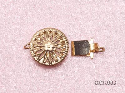 12.5mm Single-strand Flower-shaped Gilded Clasp GCK009 Image 3