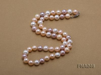 Classic 8-8.5mm AAA White and Pink Cultured Freshwater Pearl Necklace FNA046 Image 2
