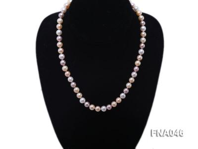 Classic 8-8.5mm AAA White and Pink Cultured Freshwater Pearl Necklace FNA046 Image 5