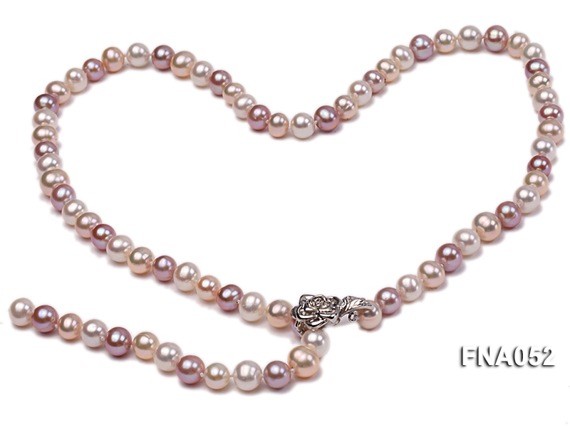 Classic 8-8.5mm AAA Multi-color Cultured Freshwater Pearl Necklace big Image 1