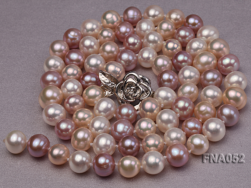 Classic 8-8.5mm AAA Multi-color Cultured Freshwater Pearl Necklace big Image 2