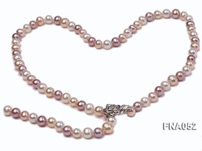Classic 8-8.5mm AAA Multi-color Cultured Freshwater Pearl Necklace FNA052 Image 1