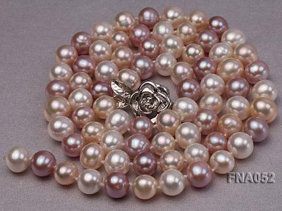 Classic 8-8.5mm AAA Multi-color Cultured Freshwater Pearl Necklace FNA052 Image 2