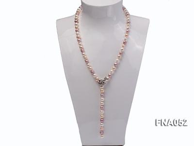 Classic 8-8.5mm AAA Multi-color Cultured Freshwater Pearl Necklace FNA052 Image 6