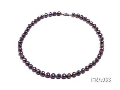 Classic 8-8.5mm AAA Lavender Round Cultured Freshwater Pearl Necklace FNA058 Image 1
