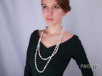 10x11mm white freshwater cultured pearl necklace FNO010 Image 3