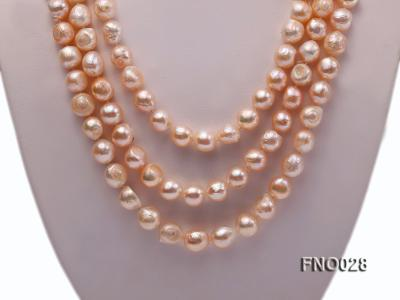 8*12mm natural pink baroque freshwater pearl necklace FNO028 Image 2