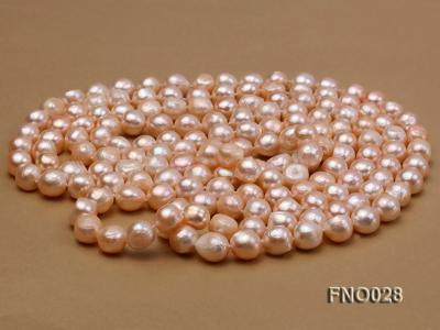 8*12mm natural pink baroque freshwater pearl necklace FNO028 Image 3