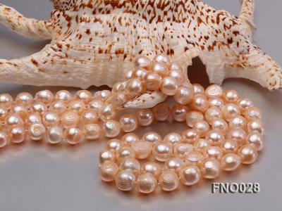 8*12mm natural pink baroque freshwater pearl necklace FNO028 Image 4