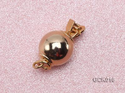 8mm Single-strand Gilded Ball Clasp GCK016 Image 2