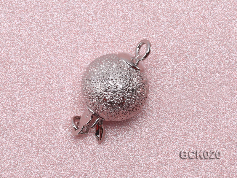 10mm Single-strand Frosted Gilded Ball Clasp big Image 2