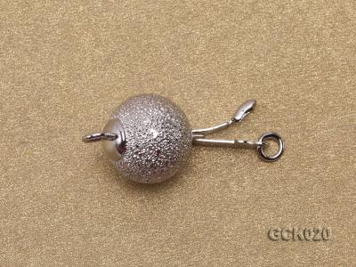 10mm Single-strand Frosted Gilded Ball Clasp GCK020 Image 3