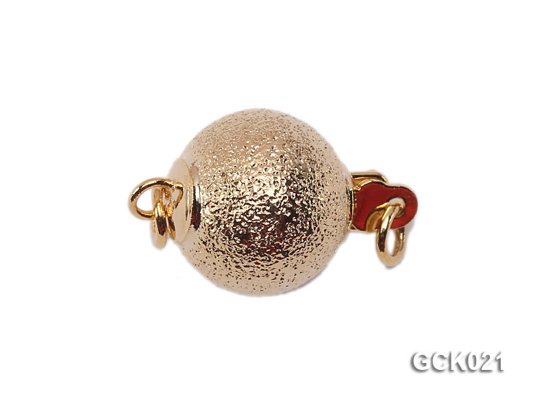 10mm Single-strand Frosted Gilded Ball Clasp big Image 1